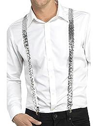 Silver Sequin Costume Braces. (US)