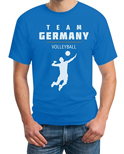 Team Germany Männer Volleyball Fanartikel Rio T-Shirt Hellblau