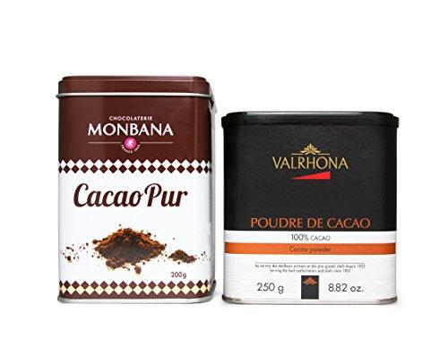 Geschenkidee: Valrhona Kakaopulver 250 g und Monbana Kakaopulver 200 g