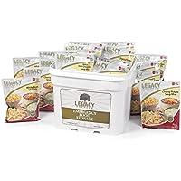 Legacy Premium Food Storage Gluten Free 25 Year Shelf Life Food Storage Supply - 120 Large Servings - 27 Lbs - Wise Emergency Survival Preparedness - Freeze Dried Meals