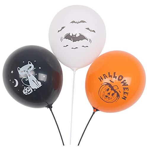 SMILINGGIRL 100 Halloween Ballons Ghost Festival Kürbis Kopfschmuck, 12