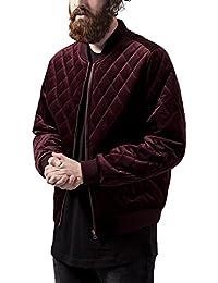 Urban Classics Diamond Quilt Velvet Jacket, Blouson Homme