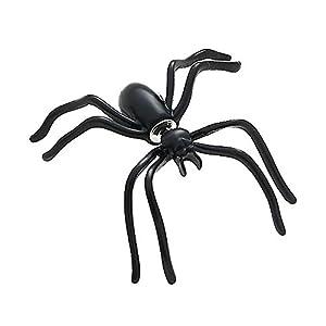 1 Paar große Spinnen Ohrringe Ohrstecker Ohrschmuck Punk Schwarz Halloween 4 cm