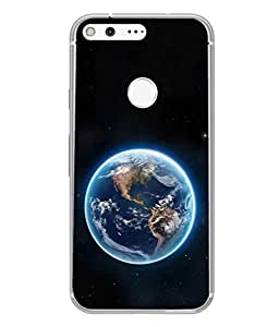 PrintVisa Designer Back Case Cover for Google Pixel (Sparkling Earth in dark Universe)