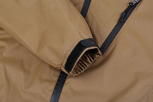 ZSHOW Herren Mountain Frühling Jacke Windbreaker Reißverschluss Outdoor Bekleidung Braun