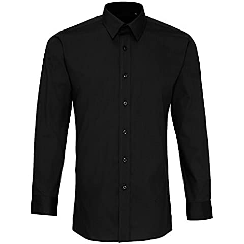 Camicia in popeline Premier Colori Equipaggiata manica lunga - 8 Colori / 34-46