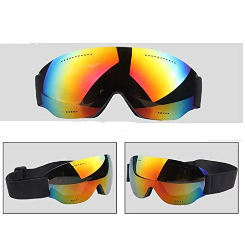ZZDJA Skibrillen, Einstöckige Skibrillen Mit Winddichten Spiegelgläsern Für Erwachsene Zum Skifahren, Snowboarden, Schneemobile Und Anderen Wintersportarten,Red