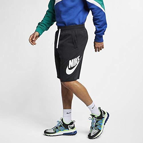 Nike Herren Sportswear Shorts, Black/Black/White/White, L