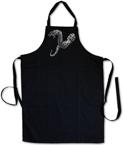 (Urban Backwoods Tribal Snake GRILLSCHÜRZE Küchenschürze KOCHSCHÜRZE SCHÜRZE – Schlange Tattoo Oldschool Flash Artist Studio)