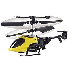 Funtime PL7850 Mini Helicóptero Mando a Distancia, Rojo/Azul/Amarillo