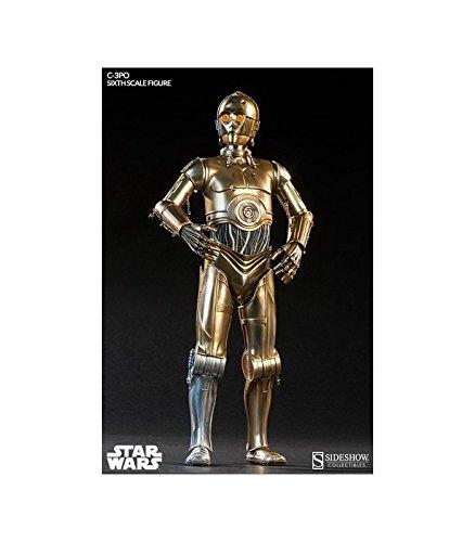 Star Wars: C-3PO | Deluxe-Figur (voll beweglich) | Sideshow | 1/6 (30 cm) (Black Bolt Kostüm)