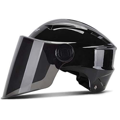 Casco moto con visiera bi-visore aperto · Casco ciclomotore ciclomotore casco anticollisione · Certificazione ECE quattro colori (colore : A)