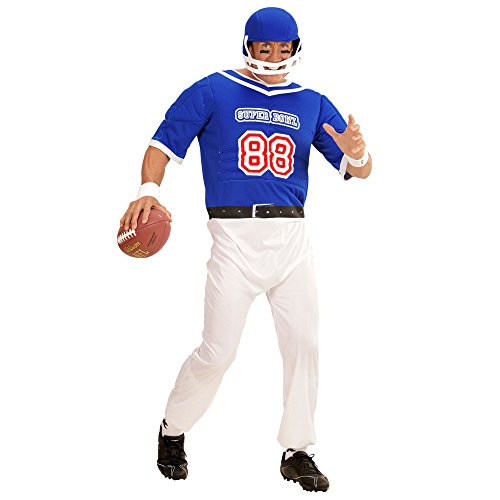 Imagen de disfraz de jugador de rugby azul para hombre  s
