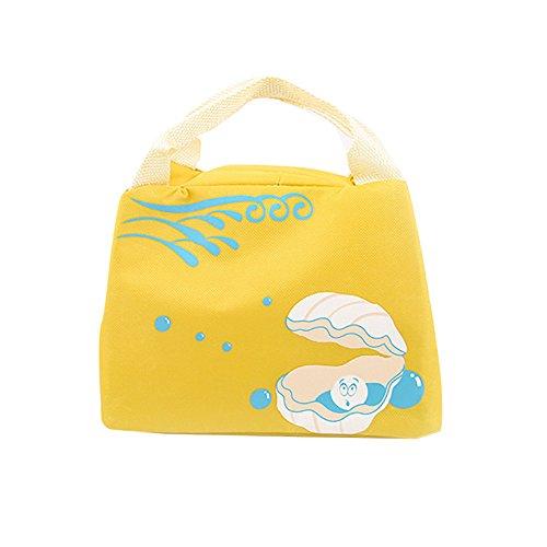 KonJin Lunchbag Mittagessen Tasche Thermotasche Isoliertasche für die Arbeit und die Schule Nette Isolationspaket wasserdichtes Segeltuch Tragbarer Mittagessen-Beutel