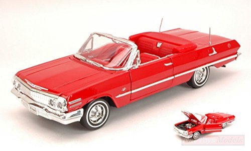 welly-we2434r-chevrolet-impala-open-1963-red-124-modellino-die-cast-model