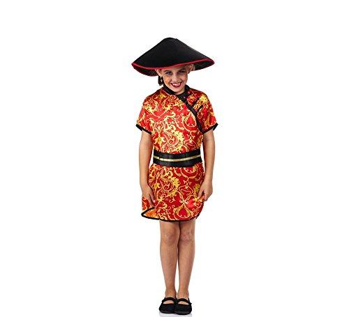 Disfraz de China Roja con Estampado para niña