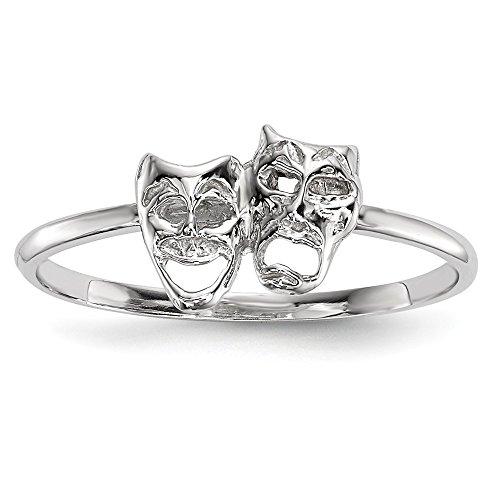 Diamond2deal Ring 14 Karat Weißgold poliert Tragödie und -