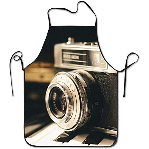Old Kostüm Maid - Waist Apron Old Photography Camera Funny Cooking Apron for Men - BBQ Grill Kitchen Chef Barbecue Gifts, One Size Fits Most