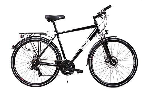 28 Zoll Alu Herren Trekking Fahrrad Shimano 21 Gang Nabendynamo Scheibenbremsen