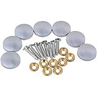 BQLZR 20 mm di diametro, in argento sterling, elementi appendere Home Decor Furniture-Specchio decorativo da tavola, chiodi a vite in rame, confezione da 8