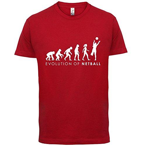 Evolution of Woman - Netzball - Herren T-Shirt - 13 Farben Rot