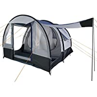 CampFeuer - Tunnel Tent, spacious Camping Tent, 510x360x210 cm, blue/grey - Version 2
