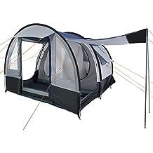 CampFeuer - Tunnelzelt, schwarz - blau/grau, 4 Personen, Campingzelt