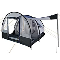 CampFeuer - Tunnel Tent, spacious Camping Tent, 510x360x210 cm, blue/grey - Version 2 28
