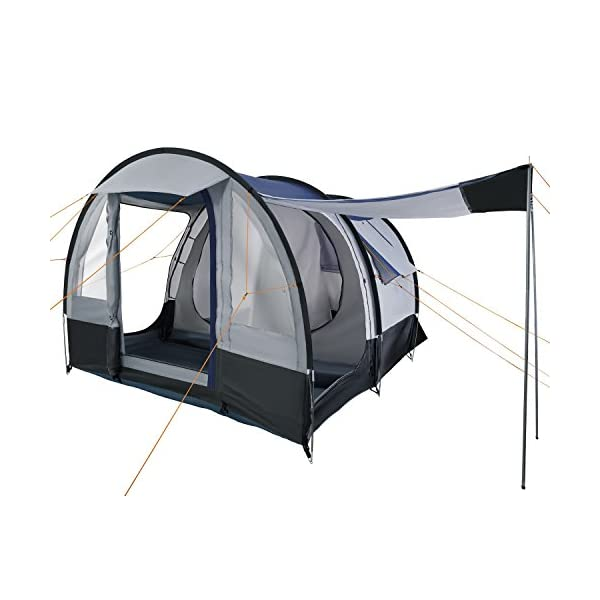 CampFeuer - Tunnel Tent, spacious Camping Tent, 510x360x210 cm, blue/grey - Version 2 1