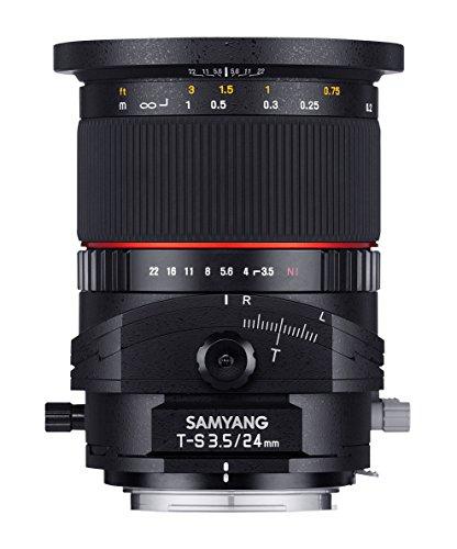 Samyang 885472 - Objetivo para Pentax K (distancia focal fija 24mm, apertura f/3.5, diámetro: 82mm) negro