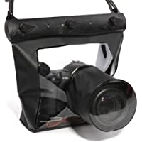 20M funda sumergible impermealbe para cámara DSLR SLR Canon Nikon Sony Pentax olympus Fujifilm Samsung (Negro)
