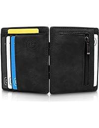 GenTo® Vegas Magic Wallet - Das Original - TÜV geprüft - Dünne Geldbörse mit Münzfach - Geschenk für Herren mit Geschenkbox - Smarter Geldbeutel - Slim Portemonnaie | Design Germany