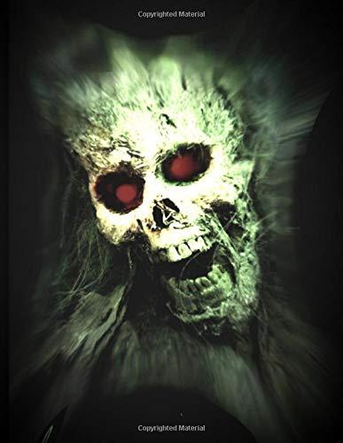 (Zombie Skull Red Devil Eyes Notebook: Journal To Write In)