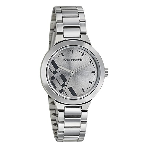 419TkatxgPL - 6150SM01 Fastrack Grey Stainless Steel watch