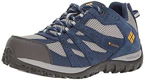 Columbia Jungen Youth Redmond Waterproof Trekking-& Wanderhalbschuhe, Blau (Steam/ Super Solarize), 33 (Columbia Kinder Schuhe)
