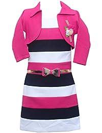 Sky Heights Girls' Jacket Middi Dress for Kids