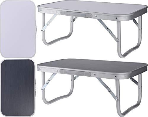 Riyashop Alu Campingtisch Mini Klapptisch Beistelltisch Falttisch leicht klappbar Camping (Schwarz)