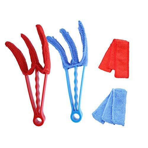 Vosarea 4 Unids Multifuncional Window Blind Cleaner Lavable Extraíble Window Duster Brush para Barrera de Puerta de Aire Acondicionado