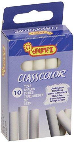 Jovi 307011 - Caja 10 tizas antipolvo blancas