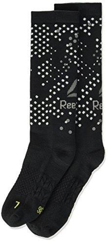 Reebok Os Run Crew Calcetines, Mujer, Black/Negro, Size 9101