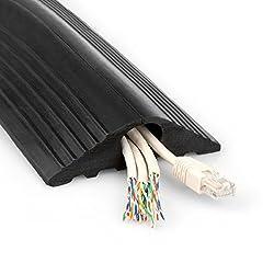 Trtools Cable Protector Black Rubber Floor Cover (20)mm (5 Metre)