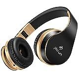 Bluetooth Kopfhörer Kabellos, Baonuor Stereo Bluetooth Headset On-Ear, HiFi Sound mit Bass, Mikrofon, TF Karte Slot, Over-Ear Noise Cancelling Kopfhörer, 10 Std. Spielzeit, für Handy, Tablets und PC