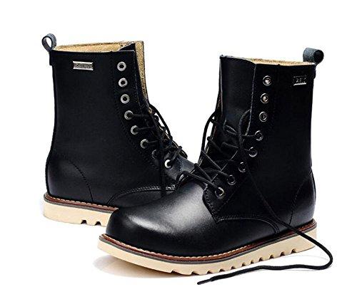 Lemontree Herren Winter Leder Boots 233 Schwarz