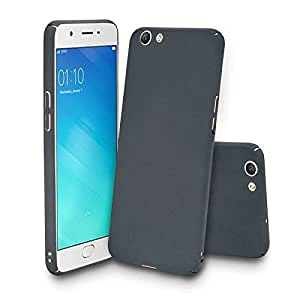 TECH SHIELD 4 CUT IPAKY Protective Curves Rubberised Hard Matte Case Back Cover For VIVO V5-Black color