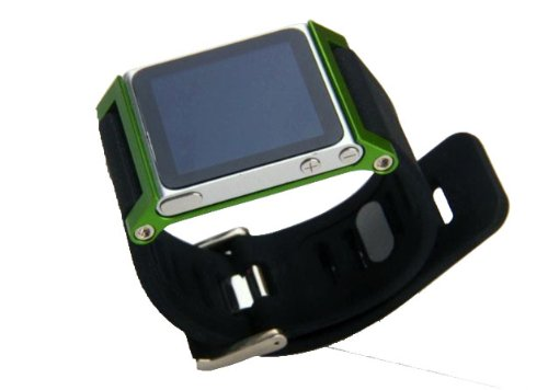 ZSTX Multi-Touch Aluminium-Armband Tasche für Apple iPod nano 6. Generation 8GB 16GB (OEM) (Grün) Apple Ipod Nano 8 Gb