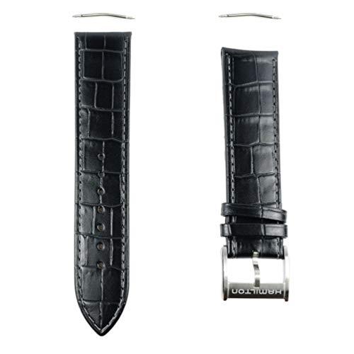 Hamilton Jazzmaster H600.326.104 Lederband, 22 mm, Schwarz