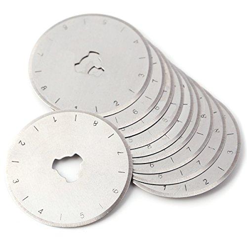 10x Lame circulaire Ronde de Rechange Accessoires de Couteau Rotatif pour scie sur tissu cuir papier plastique 28mm