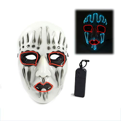 uchtmaske Party Ball Requisiten Halloween LED Leuchtmaske Live Knot Band Maske,White-Ordinary ()