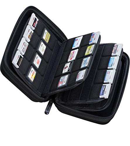 Butterfox 64ゲームカード収納ホルダーハードケース(3DS、2DS、DS用) - ブラック One Xl Carry Case