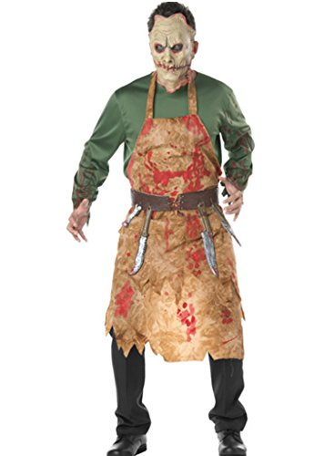 Kostüm Schreckliche Bekleidung Cosplay Masken+Oberteil+Schürze +Gürtel Grün (Schreckliche Masken)